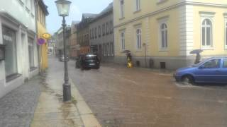 preview picture of video 'Unwetter in Zschopau'