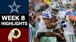 Cowboys vs. Redskins | NFL Week 8 Game Highlights | Kholo.pk