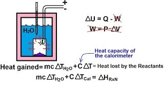 Chemistry - Thermochemistry (25 of 37) The Bomb Calorimeter (Constant Volume)