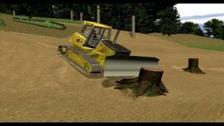 John Deere Crawler Dozer Simulator Training Lessons