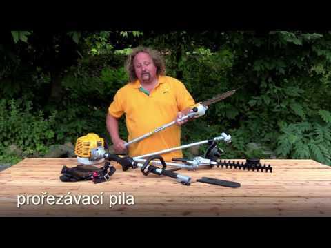 Multifunkční křovinořez Riwall a videotest Českého Kutila