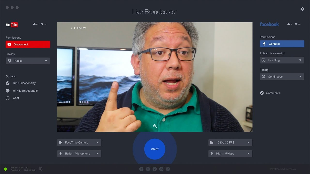 Live Broadcaster for Windows (Alpha)