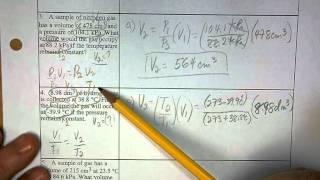 Gas Law Problems 1