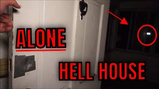 (30 Min ALONE Challenge) ABANDONED HOUSE AT MIDNIGHT, THIS PLACE WE CALL HELL HOUSE