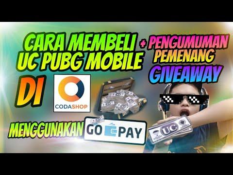 CARA MEMBELI UC PUBG MOBILE DI CODASHOP MENGGUNAKAN GOPAY + PENGUMUMAN PEMENANG GIVEAWAY !!!!