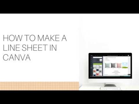 How to Make a Line Sheet In Canva in MINUTES