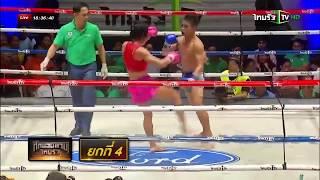 Девушка против парня тайский бокс