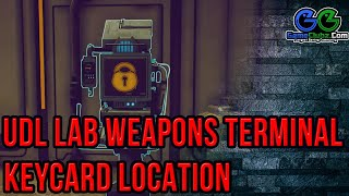 The Outer Worlds UDL Lab Weapons Terminal Keycard Location | How To Get The Gloop Gun Science Weapon