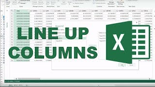 How to combine tables with different columns in excel