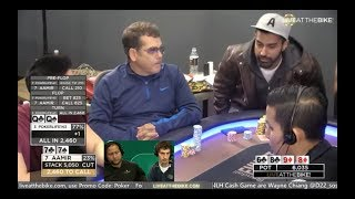 """Live at the Bike $5/$5/$10 NLHE - """"Wayne Chiang and Dan Zack Commentate."""""""