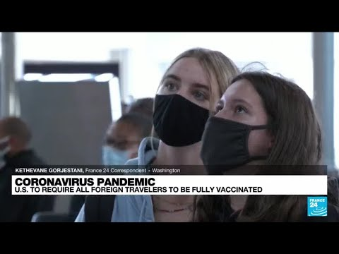 US to end travel bans for vaccinated passengers 'early November'
