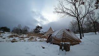 戸惑いの雪中ソロキャンプsolocamping#35