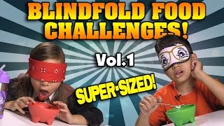 BLINDFOLD FOOD CHALLENGES!!! Super-Sized Compilation! OREOS, PRINGLES, CHICKEN NUGGETS, etc!
