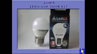 """Лампа LED 6Вт Е27 4000К светодиодная шар. Ledstar от компании ООО """"НПО Бастион"""" - видео"""