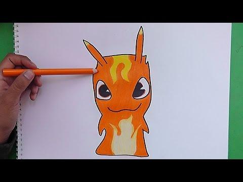 Dibujando y coloreando a Infierno Burpy - Como dibujar la babosa infierno de Bajoterra
