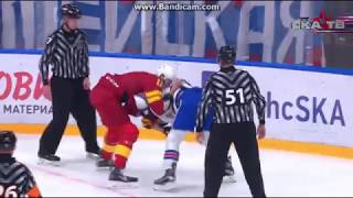 KHL Fight Marko Anttila Vs. Yevgeni Ketov Ska - Jokerit 17.8.2017