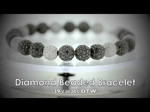 39 Carat DTW REAL DIAMOND Beaded Bracelet as worn by Jay-Z & Kanye West