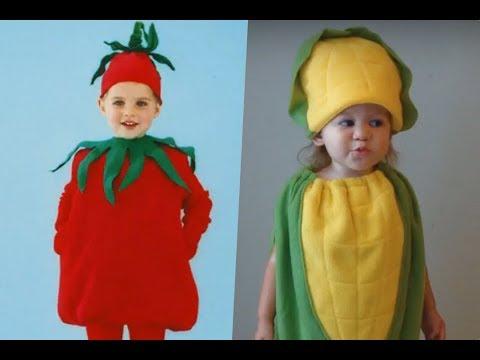 Disfraz de vegetales para niños.