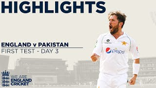 Watch match highlights of Day 3 from the 1st Test between England and Pakistan at Old Trafford.  This is the official channel of the ECB. Watch all the latest videos from the England Cricket Team and England and Wales Cricket Board. Including highlights, interviews, features getting you closer to the England team and county players.