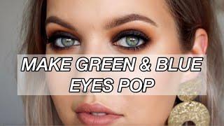 HOW TO MAKE GREEN & BLUE EYES POP! | Smokey Eye Makeup Tutorial