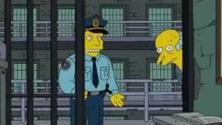Mr Burns im Knast