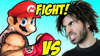 MARIO COMBAT vs The World's Worst Gamer!
