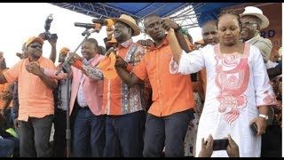 Waiguru campaigns with Raila in Kibra - VIDEO