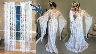 I Made A Boho Dress Out Of $15 Curtain, DIY