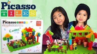 Picasso Tiles PTB100 Bristle Shape 3D Building Block Farm Set | Review By: Jam&Jesse