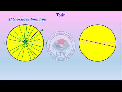 Toán lớp 3 - Tuần 22 - Bài giảng 1: Hình tròn, tâm, đường kính, bán kính