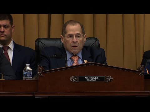 House Judiciary Committee Chairman Jerry Nadler rebuked President Donald Trump and former White House Counsel Don McGahn for defying a subpoena for McGahn's testimony before the committee Tuesday. (May 21)