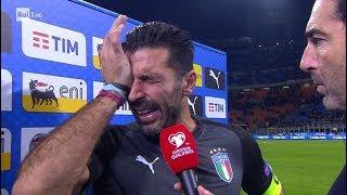 BUFFON CRYING ⚽️⚽️⚽️ GOODBYE!!! ⚽️⚽️⚽️ LAST OFFICIAL GAME.