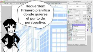 Cómo Dibujar Manga con Sen y Kai -  Dibujos de Edificios Perspectiva de 1