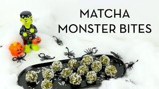 Halloween Recipe: Matcha Monster Protein Bites