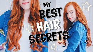 My Hair Care Routine  | Coloring + Styling LONG Red Hair! ⭐️