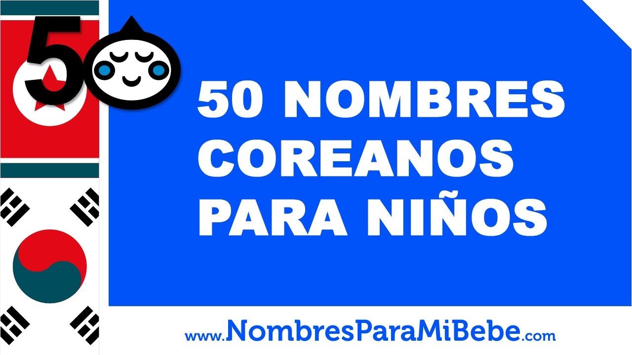 50 nombres coreanos para niños - los mejores nombres de bebé - www.nombresparamibebe.com