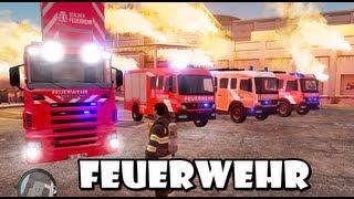 GTA IV - Feuerwehr / German Fire dept responding to a structure fire