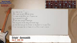 Criyin' - Aerosmith Guitar Backing Track with chords and lyrics