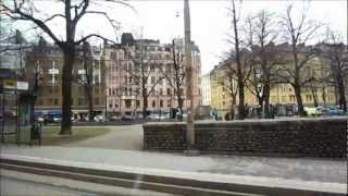 preview picture of video 'Helsinki Tram 3B-3T Ride - Short City Tour, Raitiolinja 3B-3T - Finland'