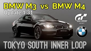 Gran Turismo Sport - BMW M4 (N400) Vs nuevo BMW M3 (N400) | Tokyo Círculo Interior Sur | Update 1.31