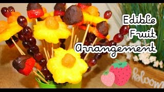 DIY Dollar Tree: How To Make An Edible Fruit Bouquet Arrangement | Mothers Day Gift Idea