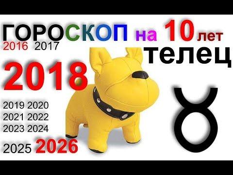 ТЕЛЕЦ 2018, 2016-2026 гороскоп на 10 лет