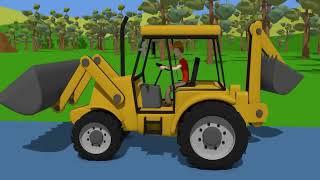 Construction Machinery For Baby | Excavator Street Vehicles | Bajki Koparki dla Dzieci