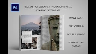 Magazine Page Designing In Photoshop Tutorial | Download Free Template