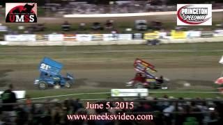 Sprint_Cars - Princeton2015 R04 Highlights