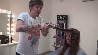 Артем Любимов МОДНЫЕ СТРИЖКИ НА ДЛИННЫЕ ВОЛОСЫ обучение парикмахеров. Уроки начинающего парикмахера.