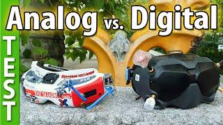 Analog vs. Digital - Side by side comparison (DJI FPV vs Rapidfire 25mw, CarFPV)