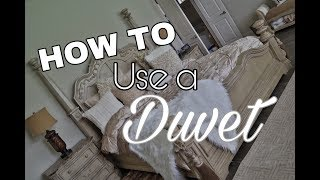 How To Use A Duvet - What Is A Duvet ?
