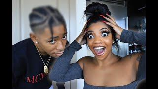 De'arra's Reaction To My New Hairstyle... (YOU WON'T BELIEVE THIS)