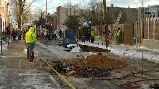 30-Foot Sinkhole Swallows 2 Cars in Philadelphia